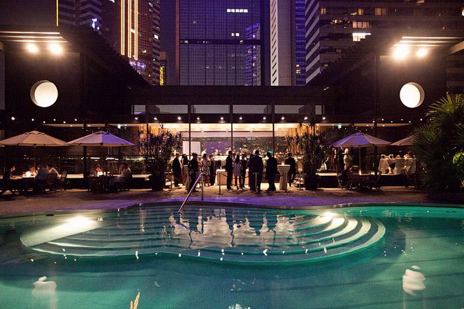 Grand hyatt - The pool house wedding