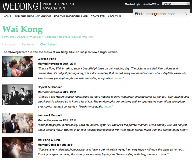 Hong kong wedding photography reviews