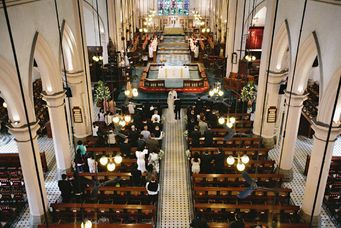 ST JOHN'S CATHEDRAL church wedding photo hong kong