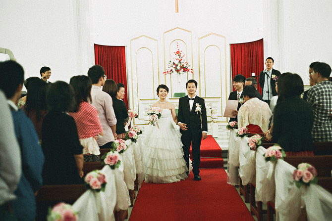 Kowloon Union Church wedding day