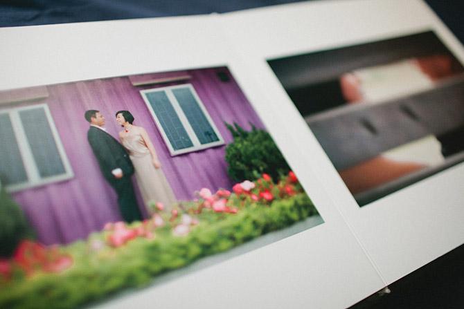 Fine art wedding photo book