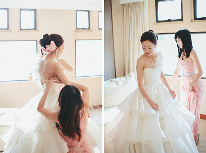 bride getting ready hong kong