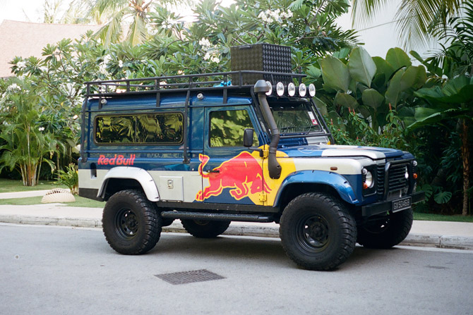 red bull land rover defender 4x4