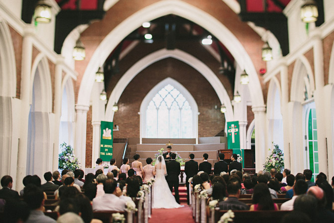 wedding in Wesley Methodist Church singapore