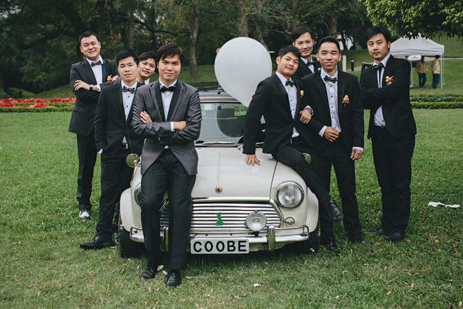 wedding with mini cooper in hong kong